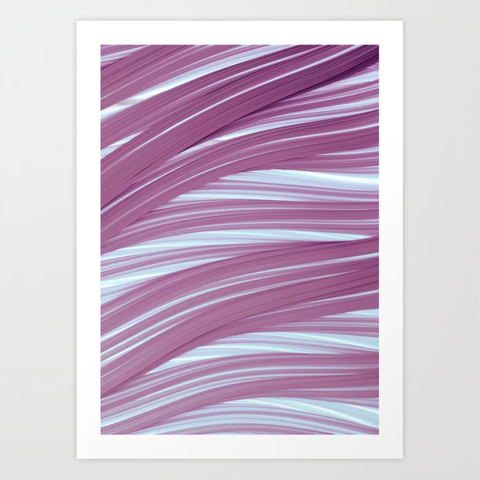 Violet and Light Strands. Abstract Design Art Print by lovefi