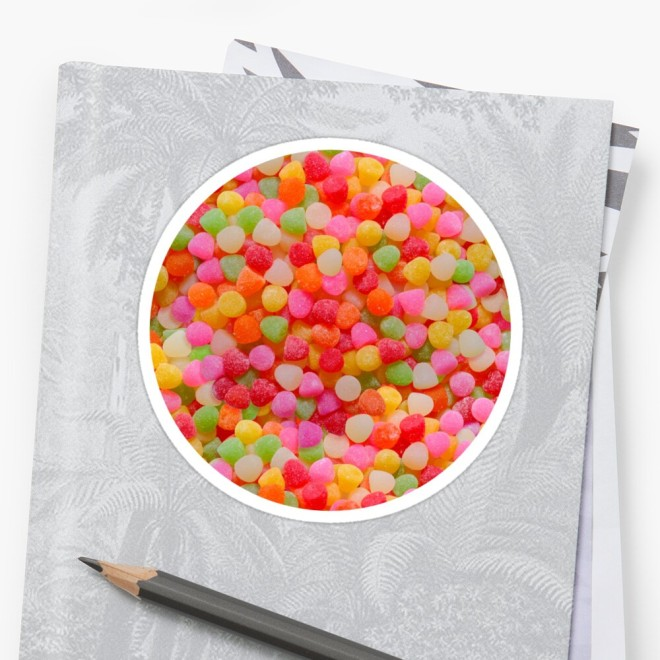 Gumdrop Candy Photo Pattern Sticker by Patterns Soup