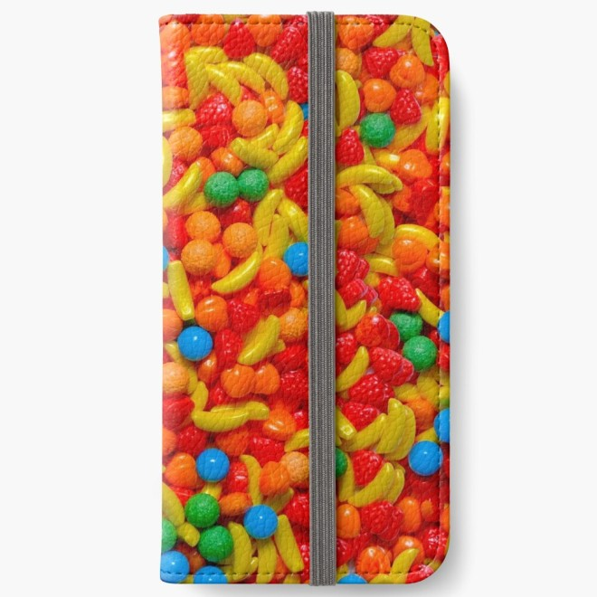 Fruit Candy Photo Pattern Phone Wallet By Patterns Soup