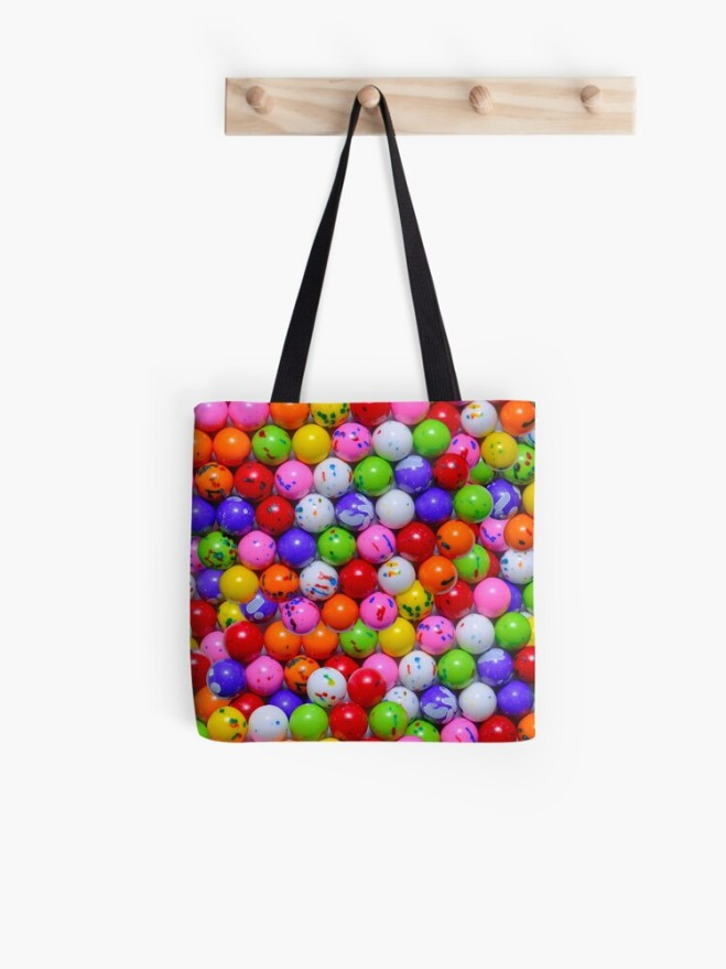 Jawbreaker Real Candy Pattern Tote Bag By Patterns Soup