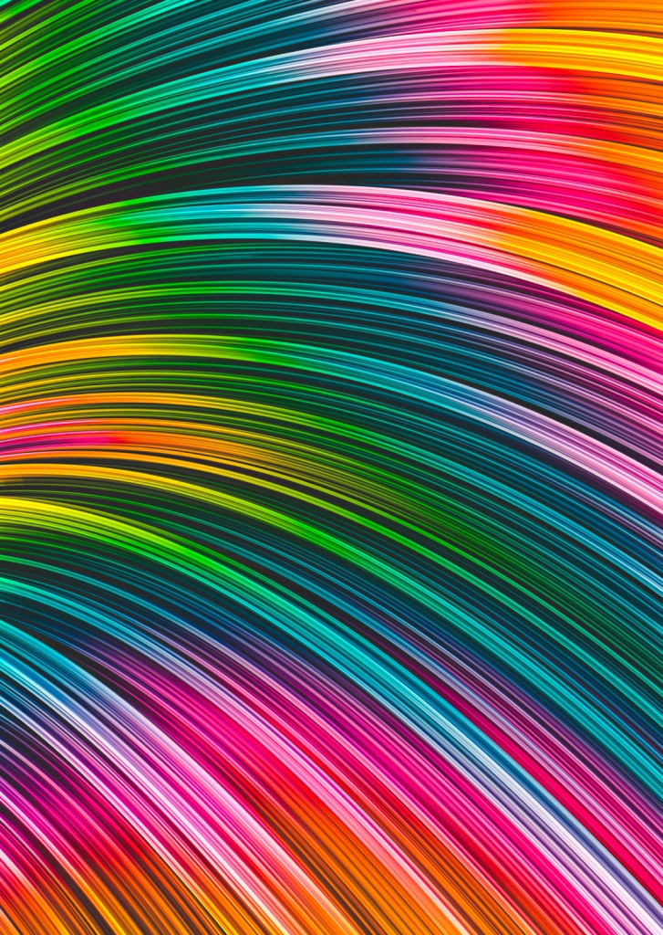 Color Prism Burst Wave. Abstract Strands. By Love-fi, Stephen Geisel