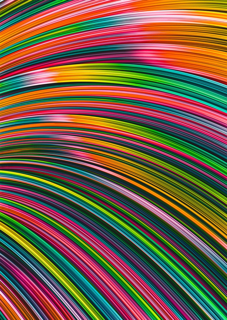 Neon Burst Wave. Abstract Strands. By Love-fi, Stephen Geisel