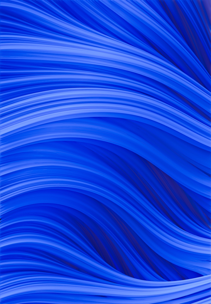 Flow Strand. Endless Blue Abstract Strands. By Love-fi, Stephen Geisel