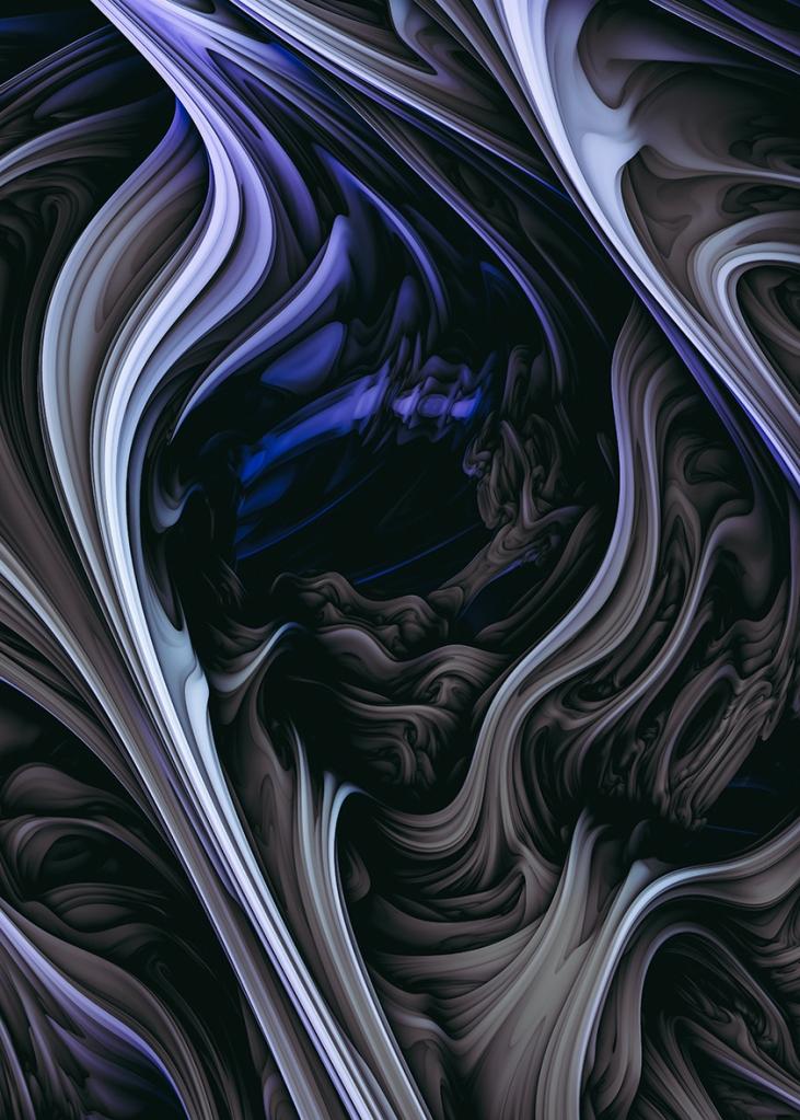 Iced Tar. Digital Abstract Art By Love-fi, Stephen Geisel