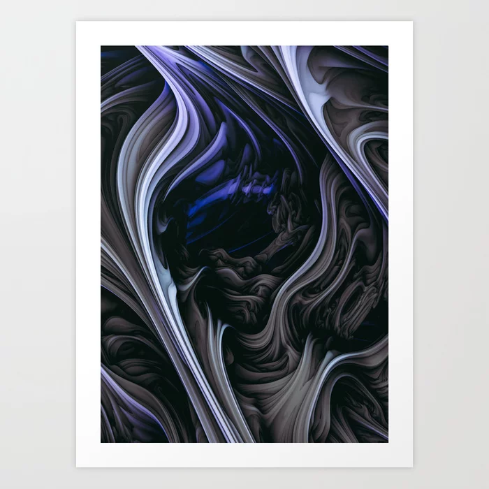 Iced Tar. Digital Abstract Art Print By Love-fi, Stephen Geisel