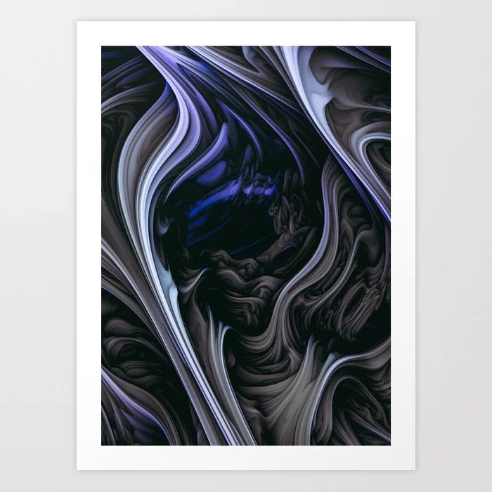 Iced Tar. Digital Abstract Art Print By Love-fi, Stephen Geisel