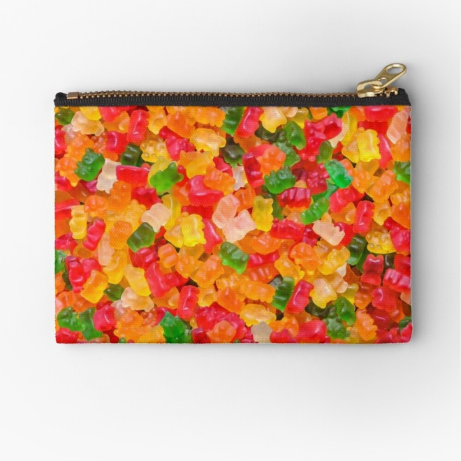 Gummy Bears Real Candy Zipper Pouch By Patterns Soup