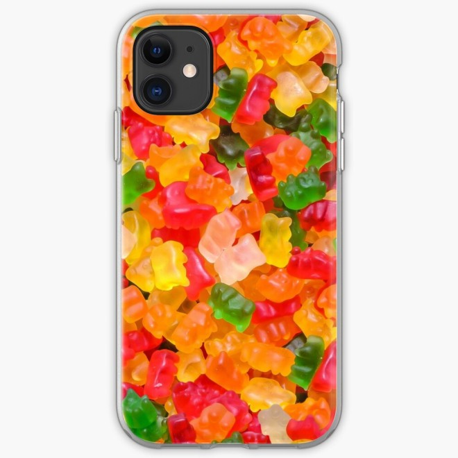 Gummy Bears Real Candy iPhone Case By Patterns Soup