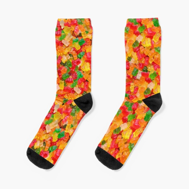 Gummy Bears Real Candy Socks By Patterns Soup