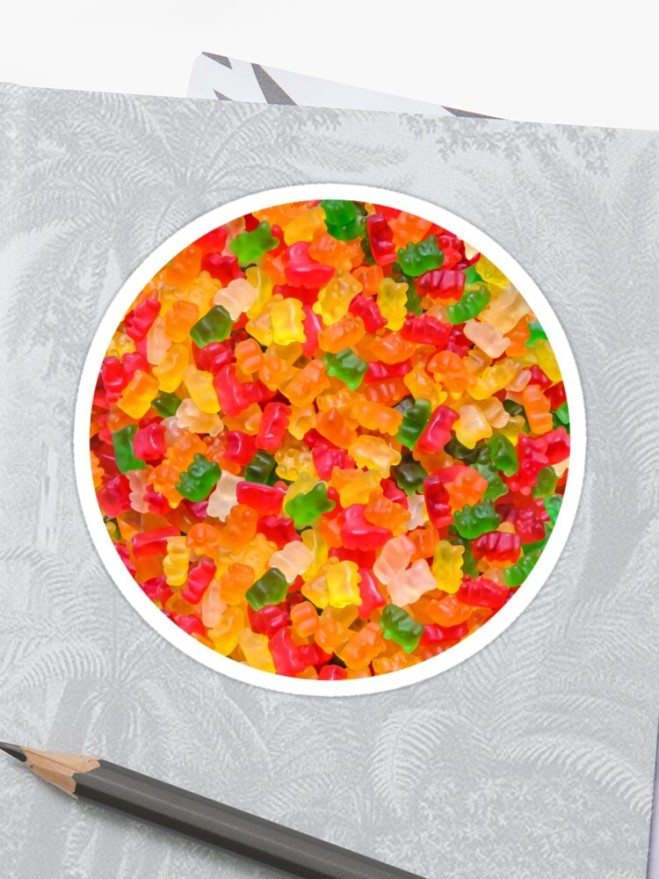 Gummy Bears Real Candy Sticker By Patterns Soup