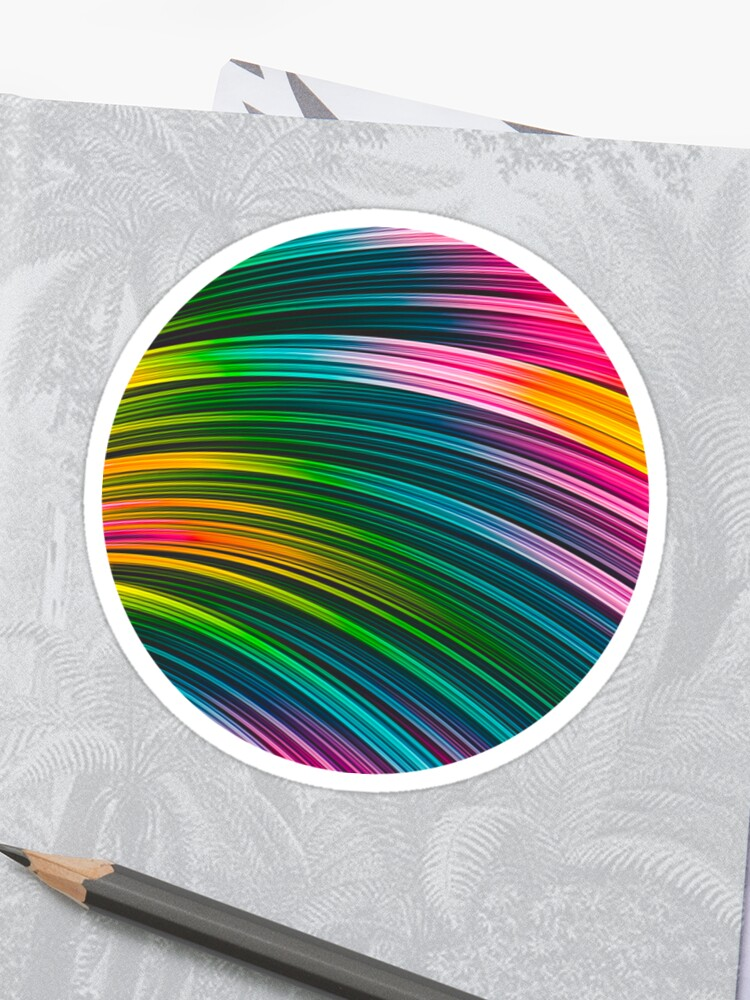 Color Prism Burst Wave. Abstract Strands. Stickers By Love-fi, Stephen Geisel