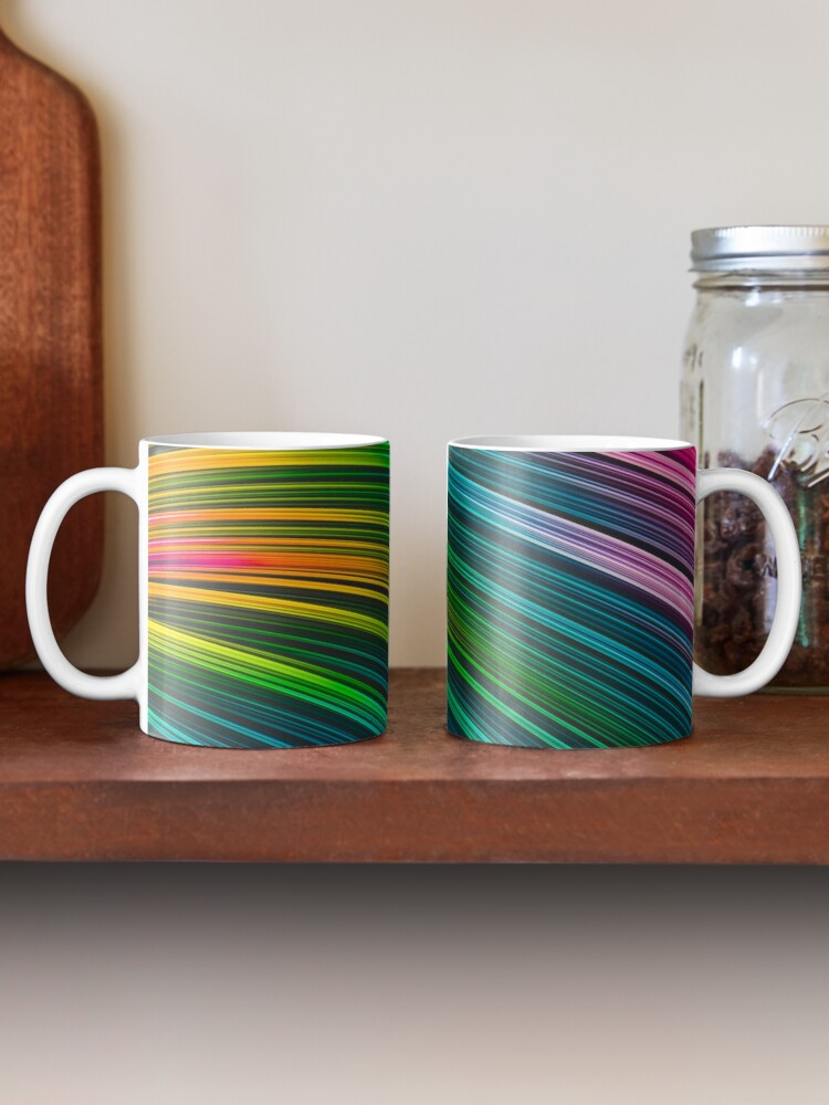 Color Prism Burst Wave. Abstract Strands. Mugs By Love-fi, Stephen Geisel