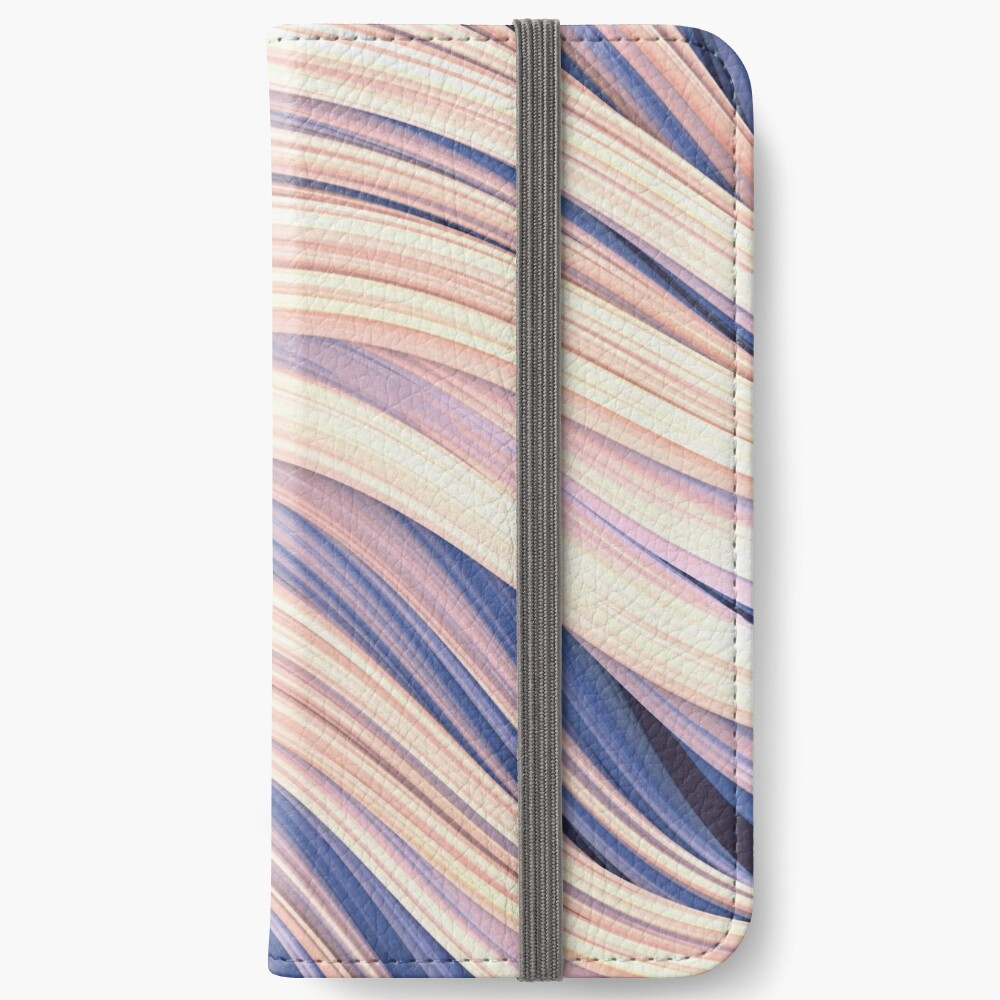 Flow Strand. White & Blue. Abstract Strands. Phone Wallet By Love-fi, Stephen Geisel