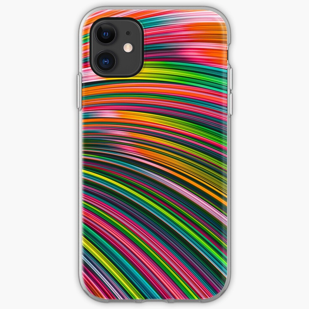 Neon Burst Wave. Abstract Strands Iphone Cases. By Love-fi, Stephen Geisel