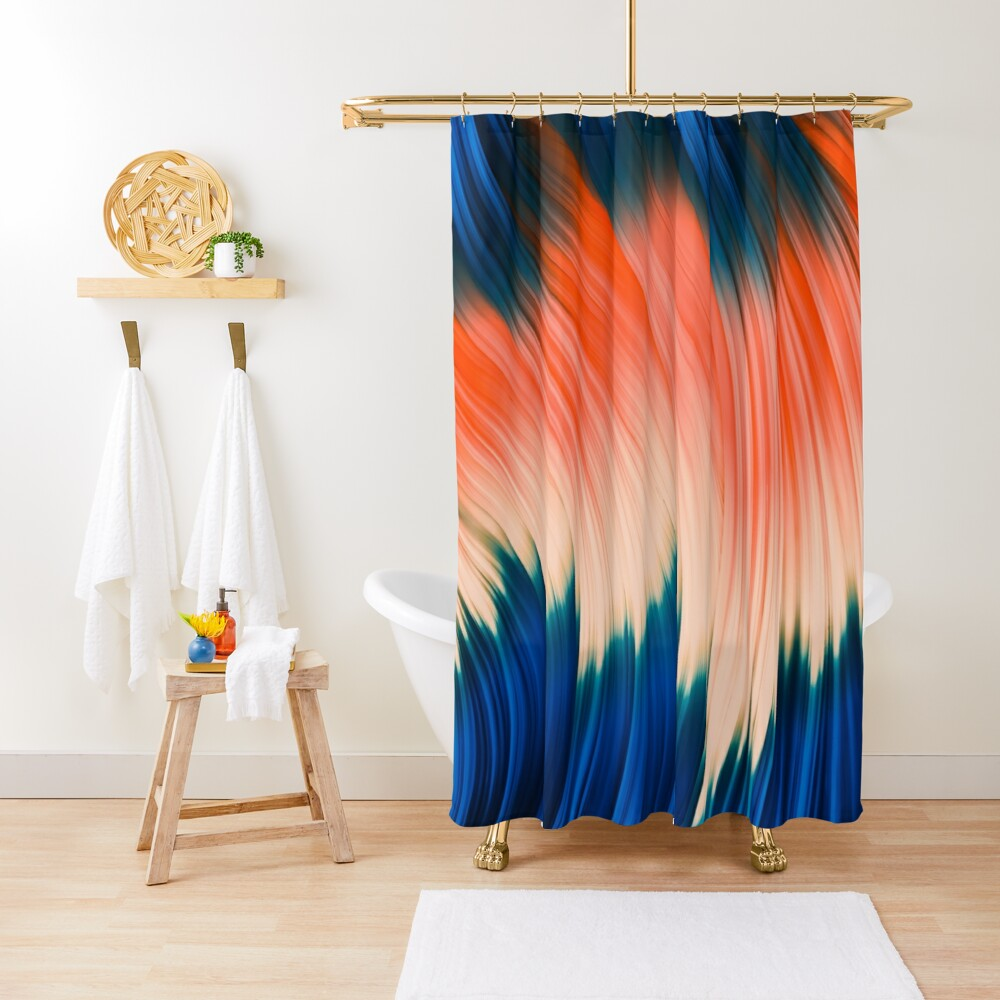 Flow Strand. Wind & Fire. Abstract Strands. Shower Curtain By Love-fi, Stephen Geisel