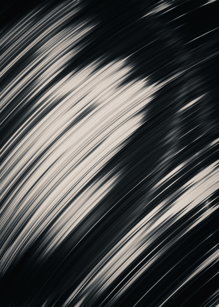 Slight. Black and White Abstract. By Stephen Geisel, Love-fi