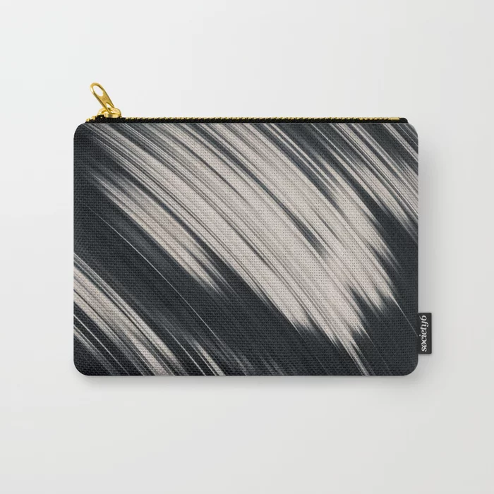 Slight. Black and White Abstract Carry-All Pouch by lovefi