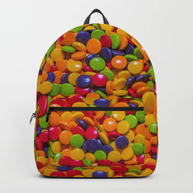 Sour Candy Buttons. Real Candy Pattern Backpack by PatternsSoup