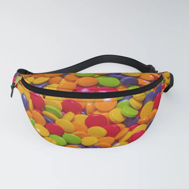 Sour Candy Buttons. Real Candy Pattern Fanny Pack by PatternsSoup