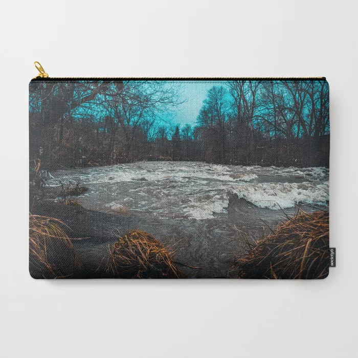 Restless Water. Landscape Photograph Carry-All Pouch by lovefi
