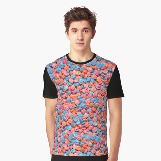 Assorted Bubblegum Chews Real Candy Pattern Graphic Tee By Patterns Soup