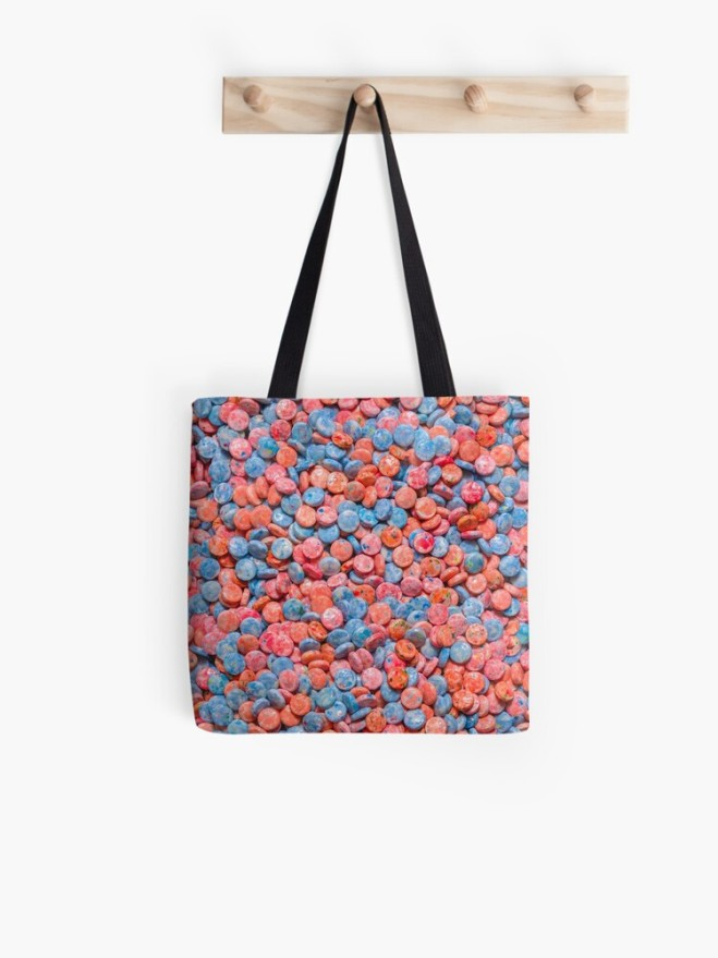 Assorted Bubblegum Chews Real Candy Tote Bag By Patterns Soup