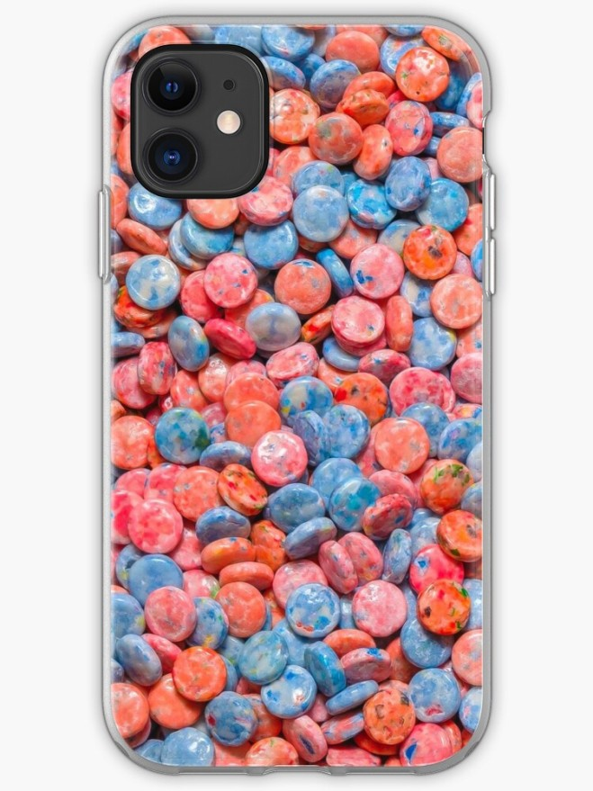 Assorted Bubblegum Chews Real Candy Pattern iphone Case By Patterns Soup