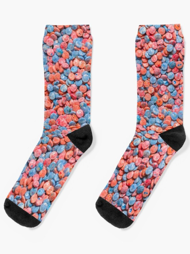 Assorted Bubblegum Chews Real Candy Pattern Socks By Patterns Soup