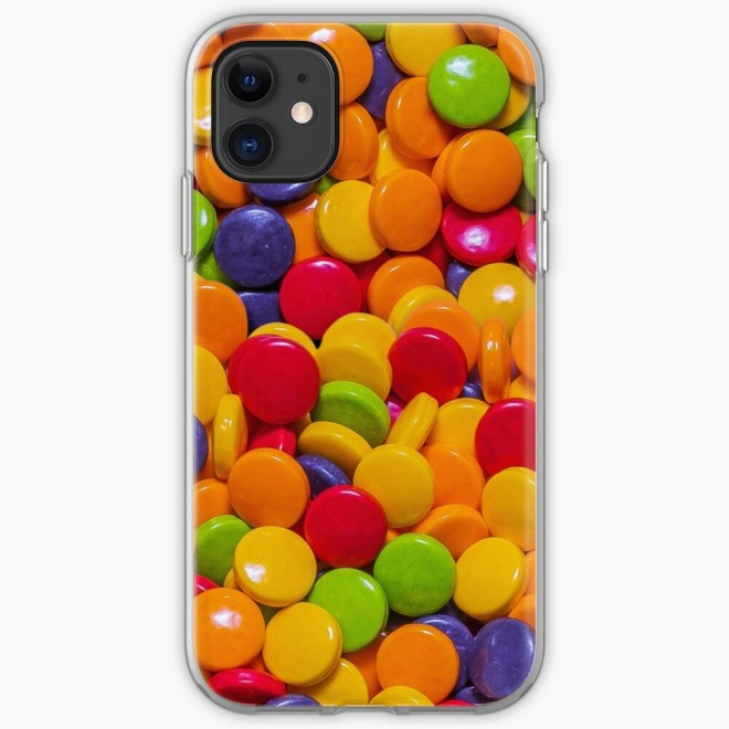 Sour Candy Buttons. Real Candy Pattern iPhone Case by Patterns Soup