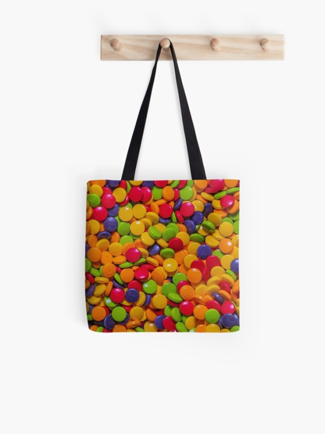 Sour Candy Buttons. Real Candy Pattern Tote Bag by Patterns Soup