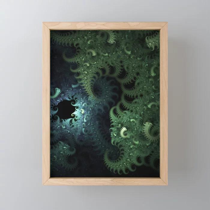 Mili Fiber. Abstract Design Framed Mini Art Print by lovefi