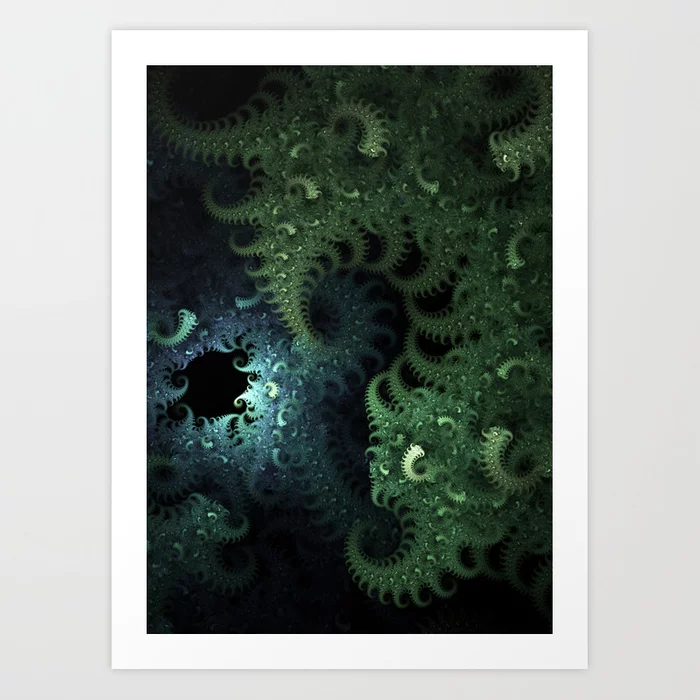 Mili Fiber. Abstract Art Art Print by lovefi