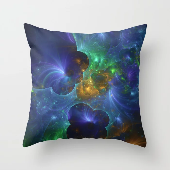 Lunar Surface II. Throw Pillow by lovefi