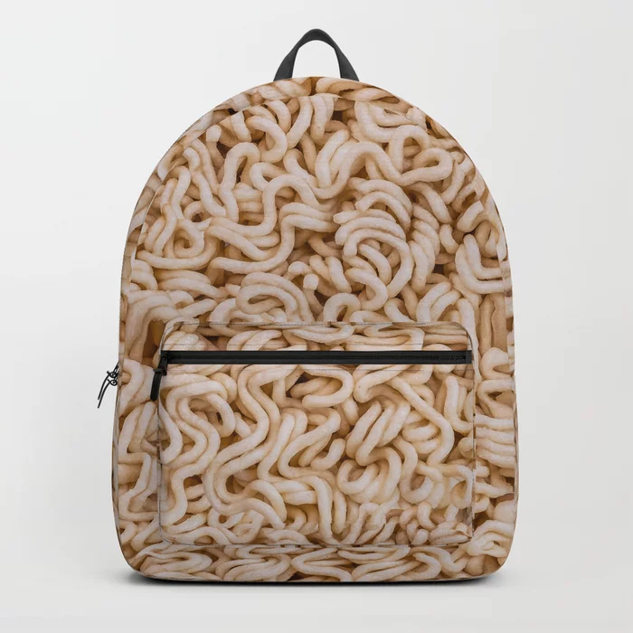 Instant Ramen Photo Pattern Backpack. By Stephen Geisel, Patterns Soup