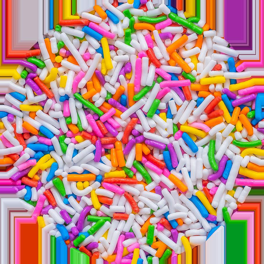 Dessert Rainbow Sprinkles Pattern by Patterns Soup
