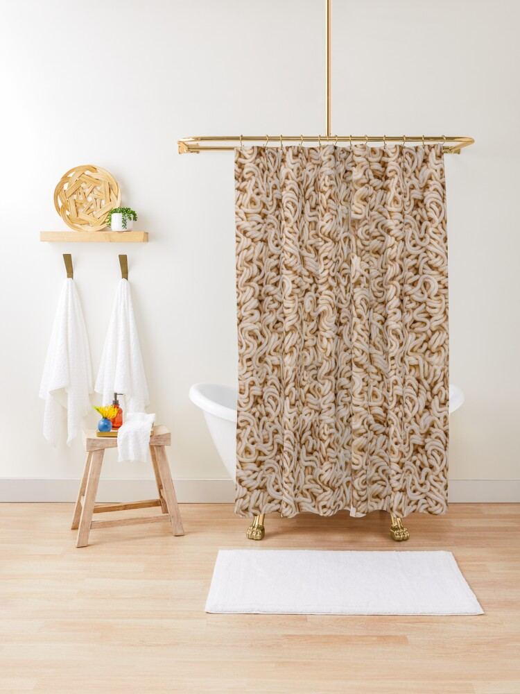 Instant Ramen Photo Pattern Shower Curtain. By Stephen Geisel, Patterns Soup