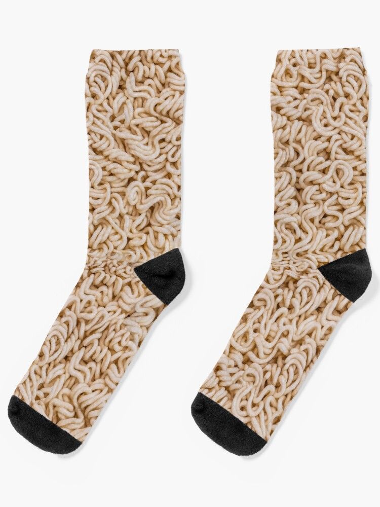 Instant Ramen Photo Pattern Socks. By Stephen Geisel, Patterns Soup