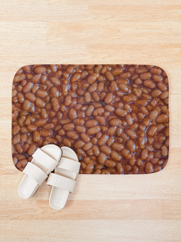 Baked Beans Pattern Bath Mat. By Stephen Geisel, Patterns Soup
