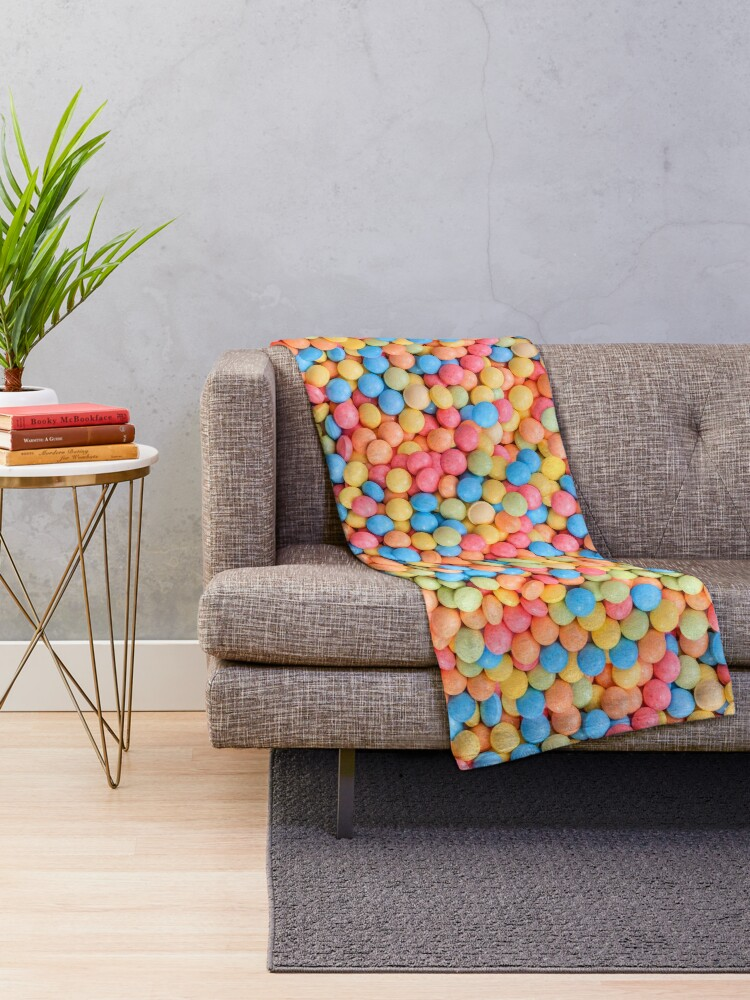 Sweet And Sour Candy Tarts Pattern Throw Blanket Patterns Soup