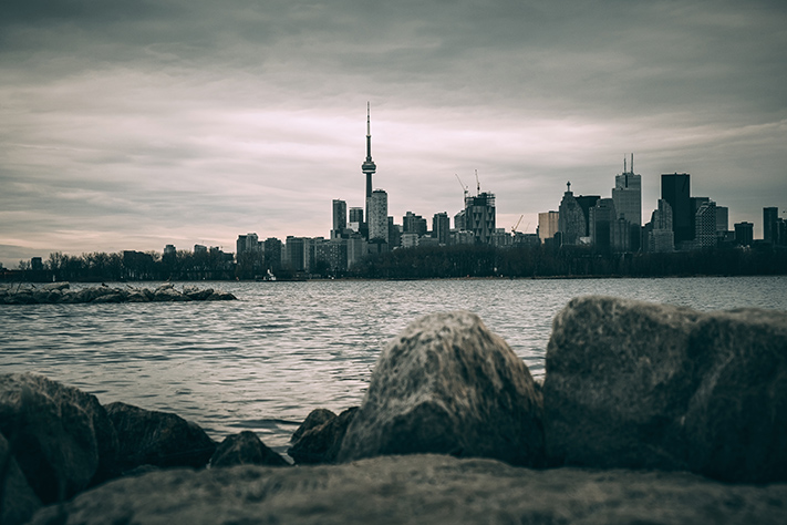 Stormy Toronto Cityscape Photograph. by Stephen Geisel, Love-fi