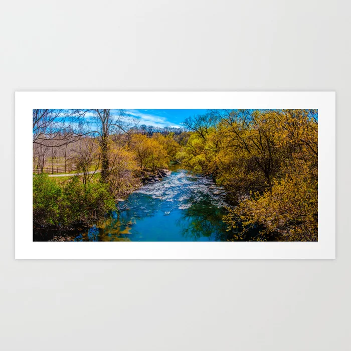 Beautiful Day. Panoramic Photograph Art Print. By Stephen Geisel, Love-fi
