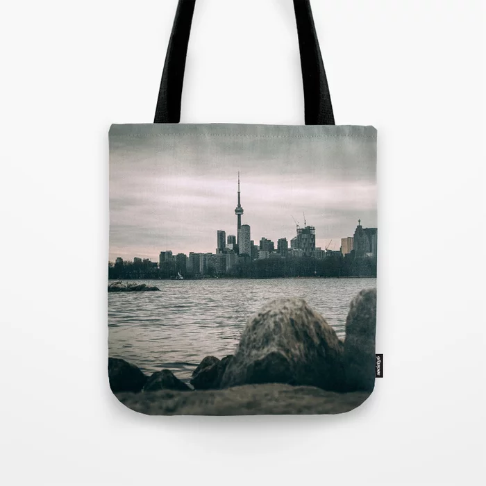 Stormy Toronto Cityscape Photograph Tote Bag. by Stephen Geisel, Love-fi