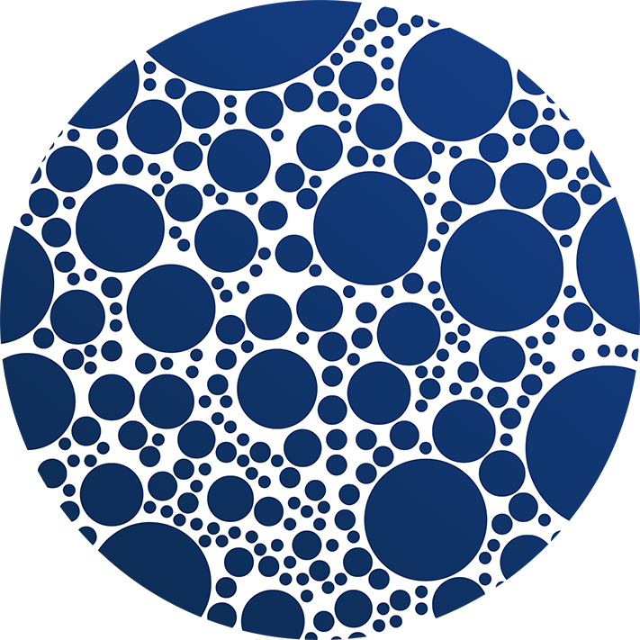 Indigo Blue Bubble Polka Dots Vector Pattern By Stephen Geisel, Patterns Soup