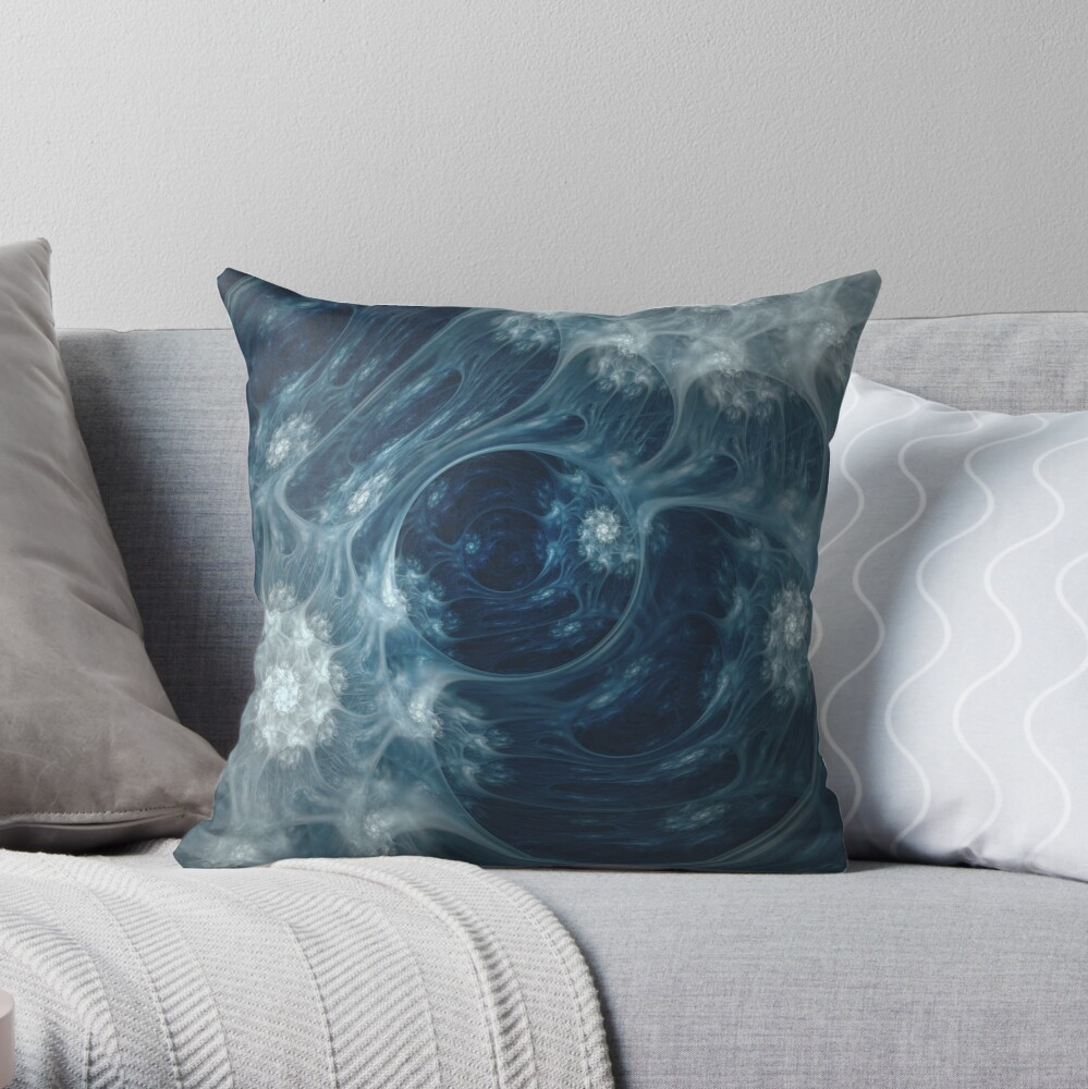 Frozen Underground Throw Pillow. on Redbubble