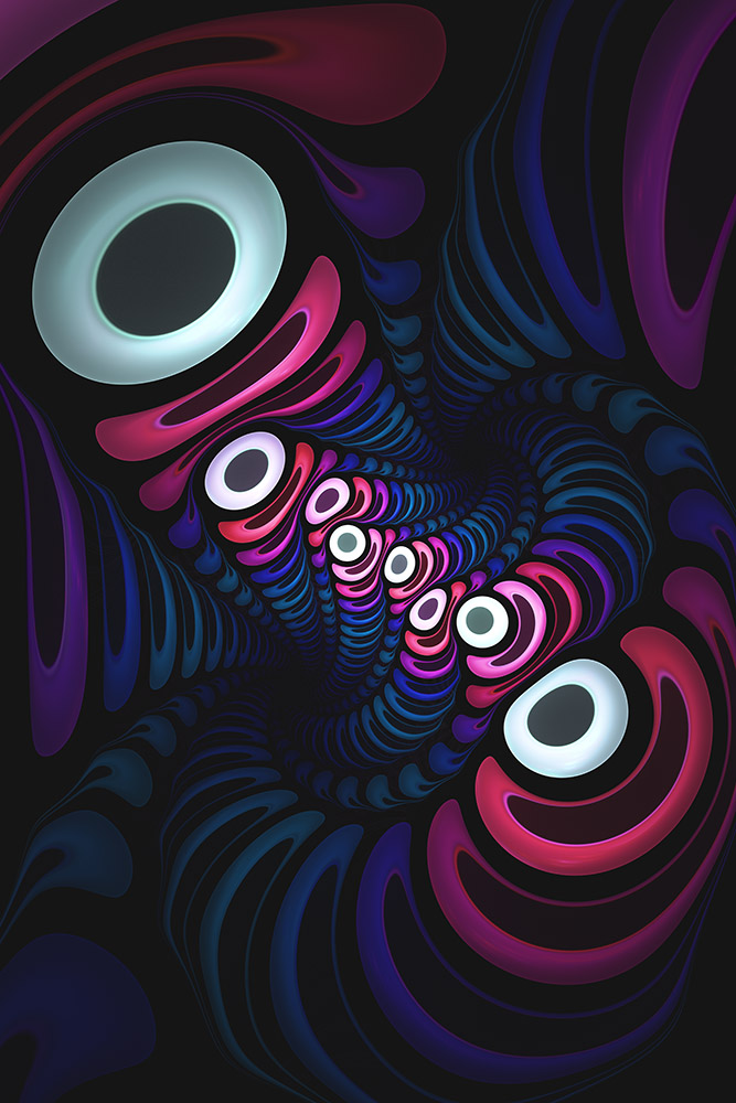 Octo-Pie. Abstract Digital Artwork By Stephen Geisel, Love-fi