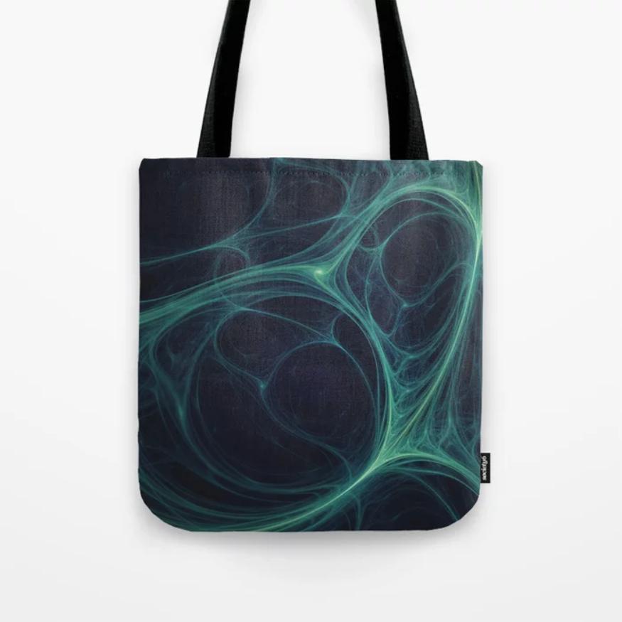 Dark Emerald Web. Tote Bag On Society6