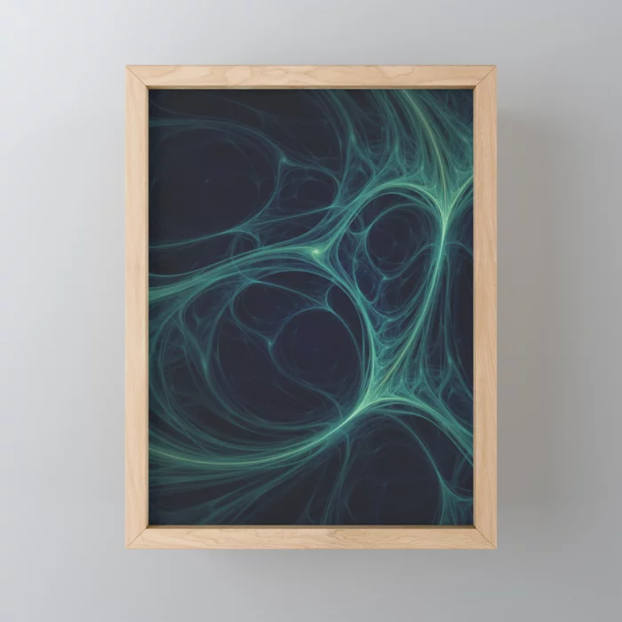 Dark Emerald Web. Mini Art Print On Society6