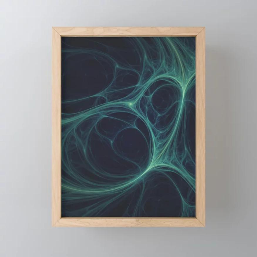 Dark Emerald Web. Mini Art Print On Society6