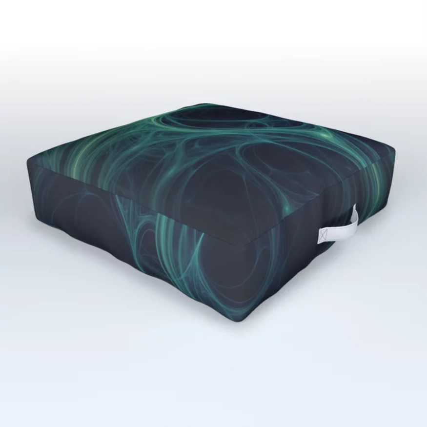 Dark Emerald Web. Floor Cushion On Society6