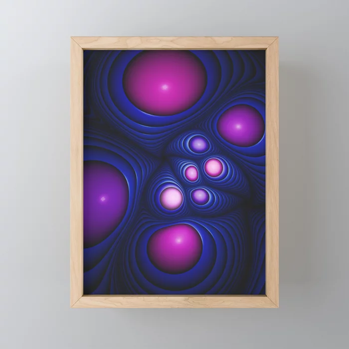 Fiber Optic. Mini Art Print On Society6